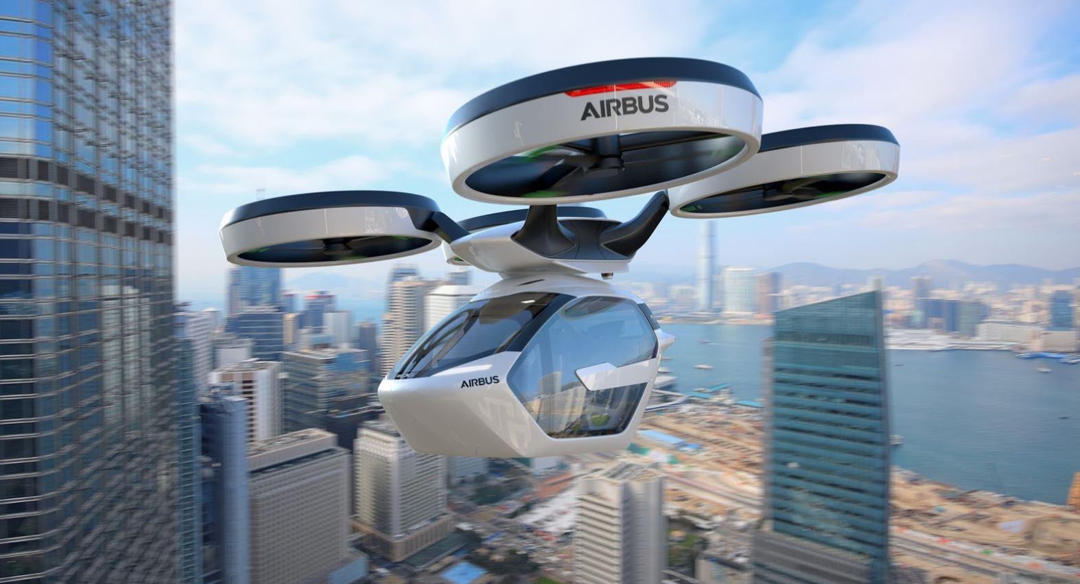 Airbus presente pop up son taxi urbain volant autonome 18295