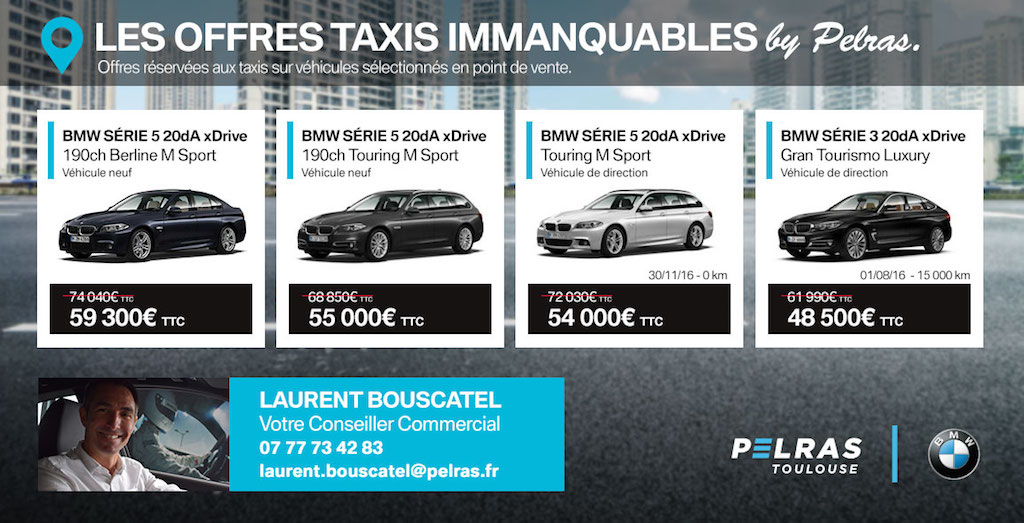 Les offres immanquables taxis by pelras